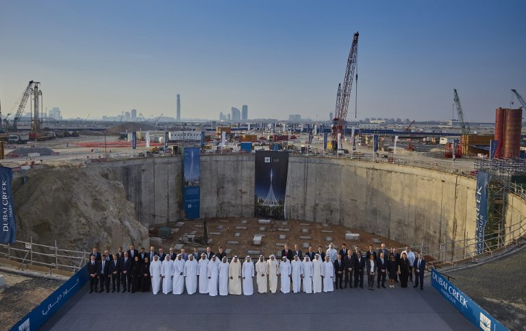 Mohammed bin Rashid reviews progress of 'The Tower at Dubai Creek Harbour'