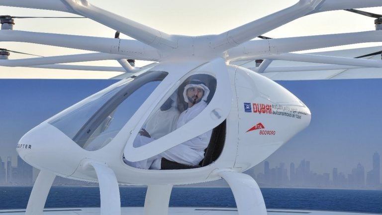 Sheikh Hamdan hails Dubai's flying taxi after test flight