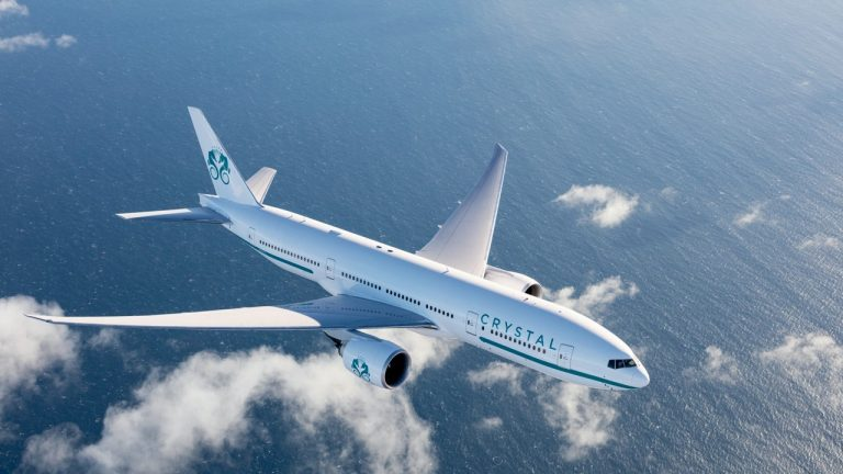 This is Crystal Skye, the world's largest and most luxuriously spacious private charter jet