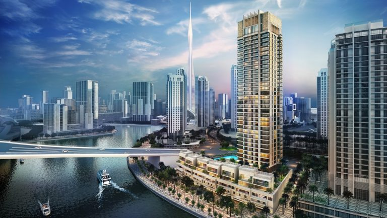 Dubai Creek Tower construction animation